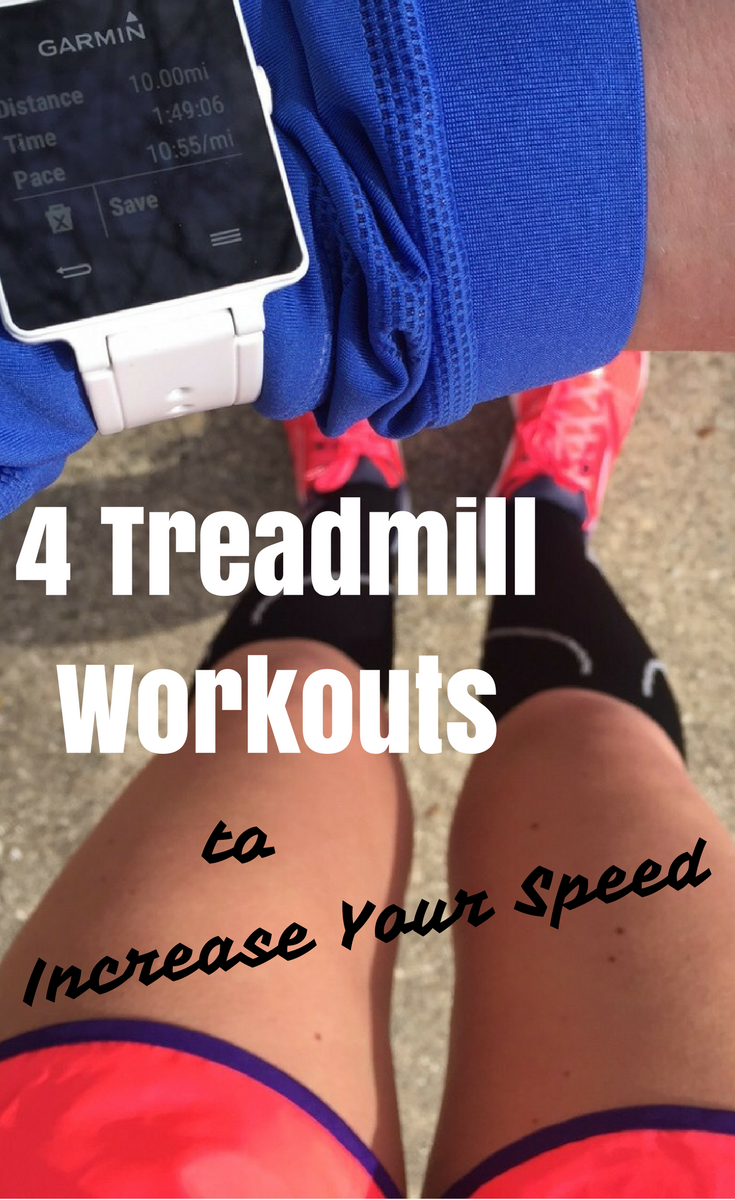 This treadmill speed workout was truly game changing in my running. By incorporating just 30 minutes per week of this simple speed workout, I was able to shave 40 minutes off my half marathon PR! This treadmill interval workout is now a staple in my running plan.