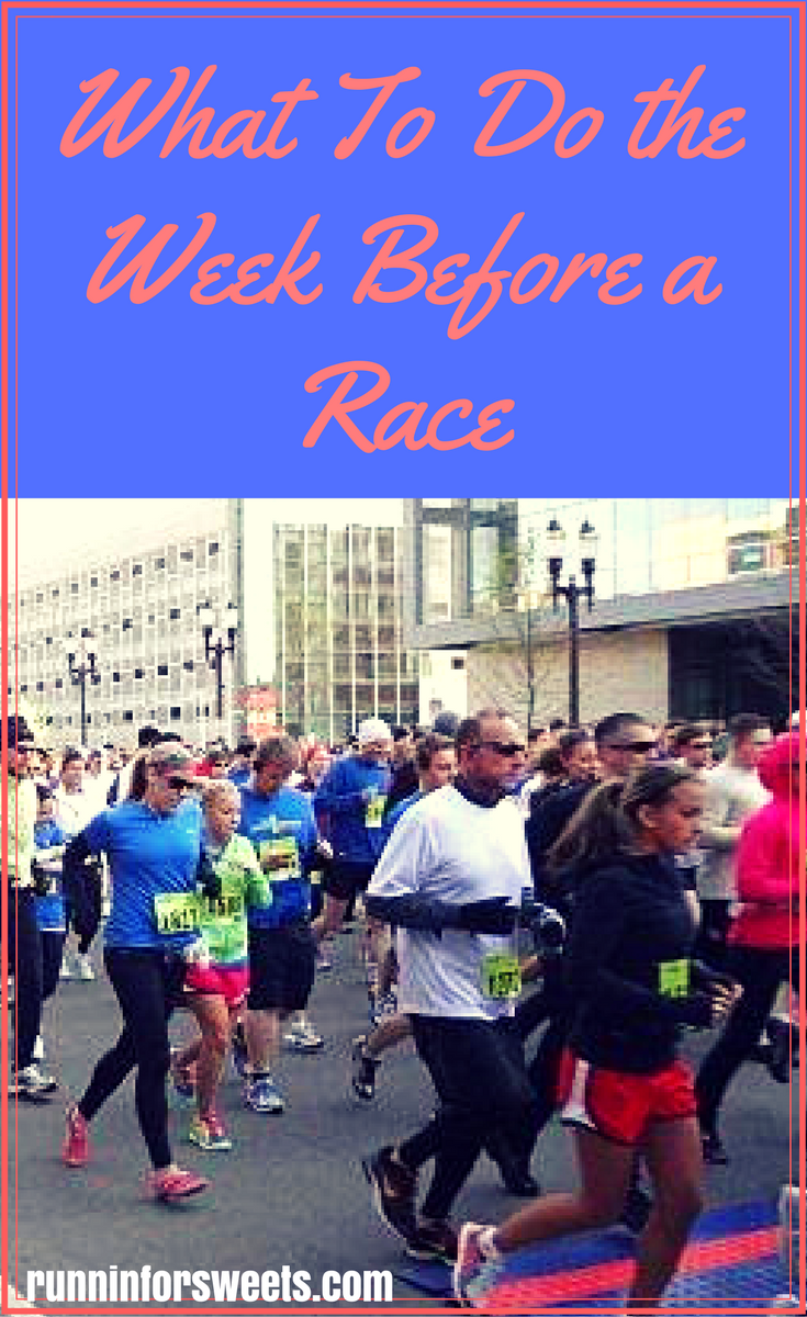 12 Things to Do the Week Before a Race