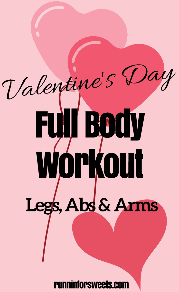 Try this Valentine's Day for some seasonal total body love this winter. This full body at home workout can be completed right at home, for partners & singles. Complete each set 2x and each move 14x.