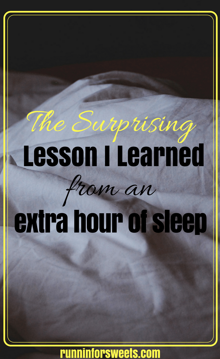 The surprising lesson I learned from an extra hour of sleep. What happened when I slept in every day for a month.