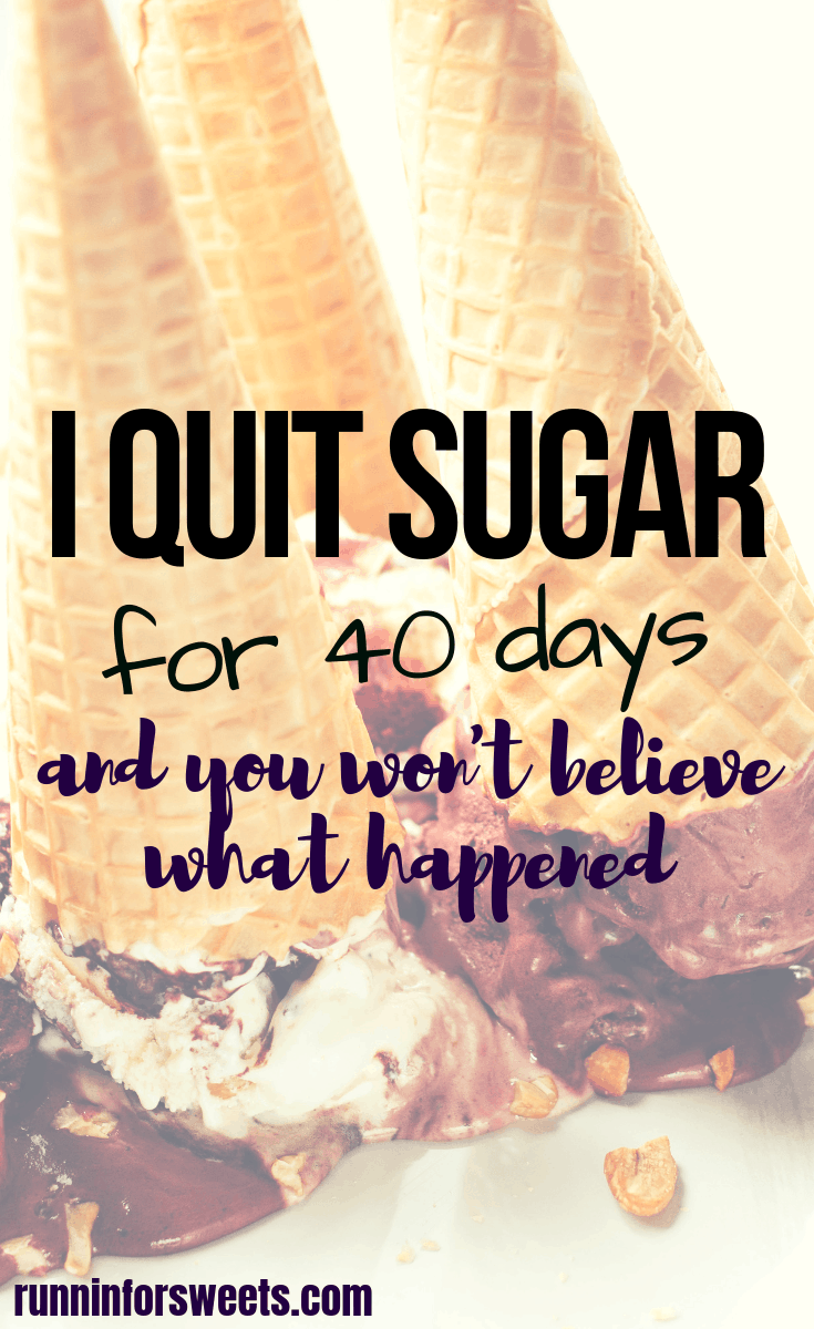 The before and after results from my 40 day sugar detox were incredible. After living the sugar addiction life I finally quit sugar for good, and it all started when I decided to give up sugar for Lent for 40 days. Here's what happened when I gave up sugar. #quitsugar #giveupsugar #healthyeating