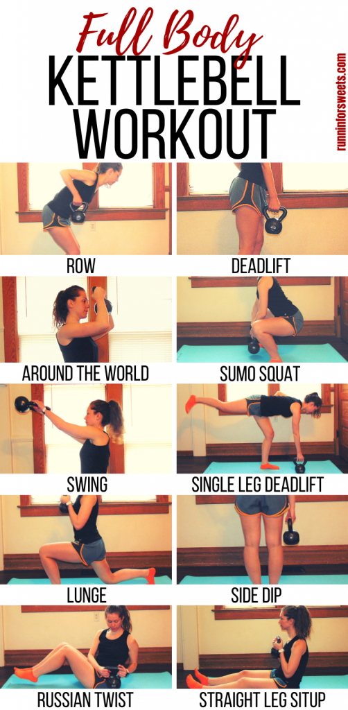 This Full Body Kettlebell Workout for runners is the ultimate at home workout. Simple, low impact moves that give you amazing results. A single kettlebell is all you need for total body toning and fat burning in this workout. #kettlebellworkout