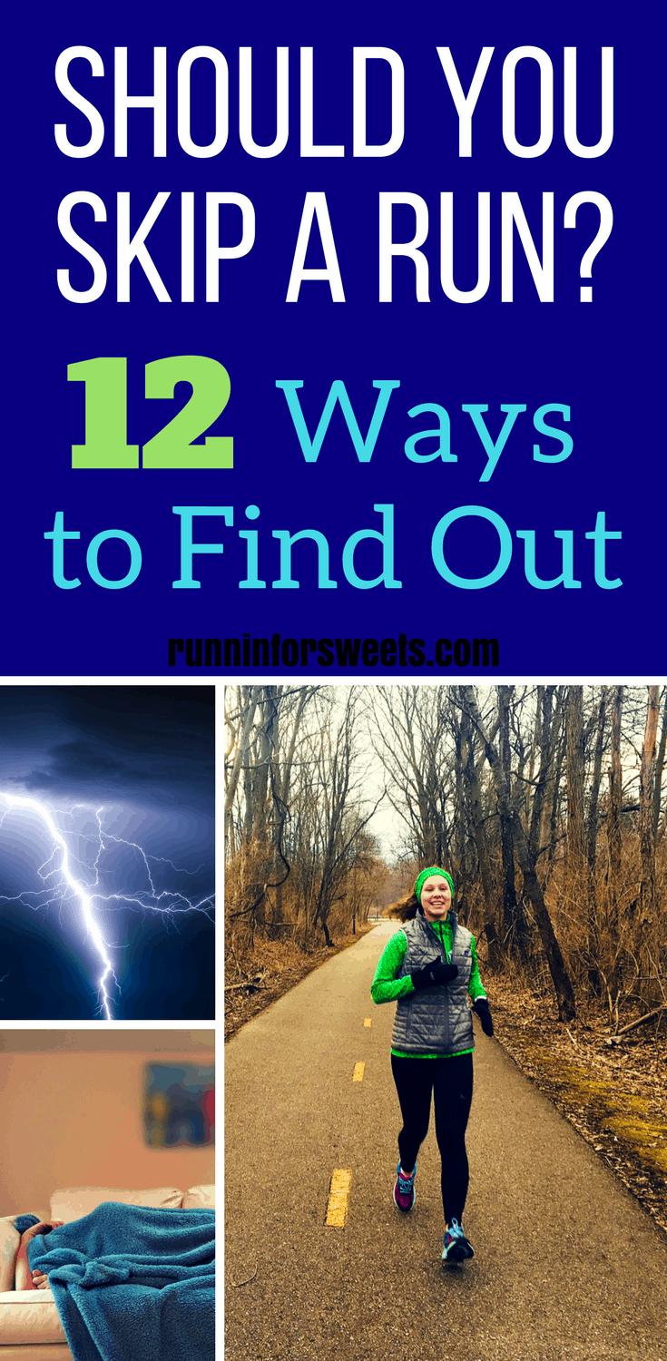 Finding running training motivation is sometimes easier said than done. There are times binge watching TV sounds a lot more appealing that heading out for a run. In order to become a runner for life, you need to know when it's okay to skip a run, and it's just an excuse. Here are 6 times you shouldn't regret skipping a run, and 6 bad excuses that mean you need to get off the couch and go. These running tips will help you stay motivated and consistent.