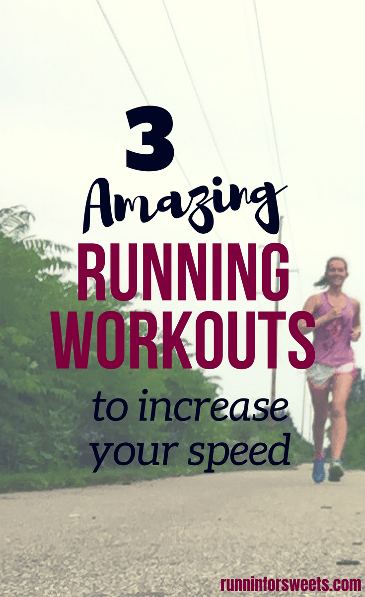 The 3 best running workouts to get faster all in one place! Try any or all of these awesome running workouts outdoors or on the treadmill. See your pace increase each week as you get faster with spending just 30 minutes a week completing one of these running workouts. Whether you are a beginner or advanced runner, this article is a game changer. #runningworkouts #increasespeed #speedworkouts #runningtips