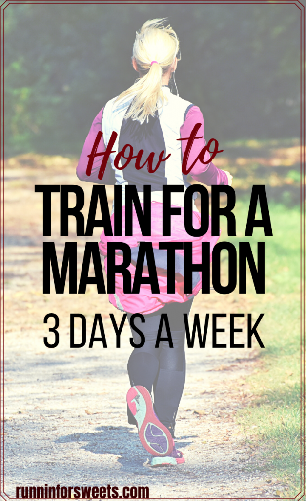 3 day a week marathon training is a great way to build endurance without suffering from burnout or overtraining. Download this marathon training plan with 3 runs per week and learn how to be successful, plus why it works! #marathontraining #marathontrainingplan #beginnermarathon