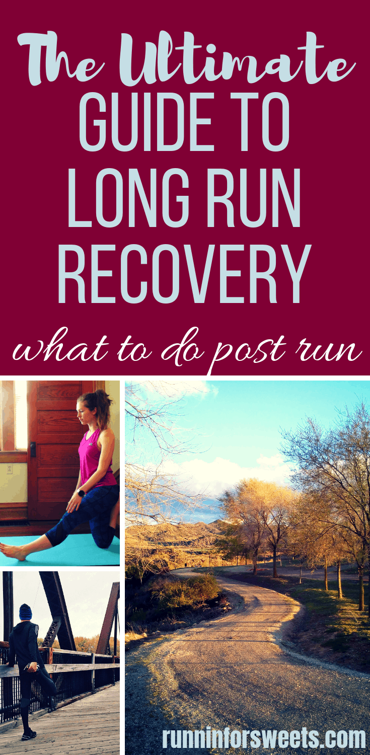 These long run recovery tips are all you need to know to continue training healthy and strong. Post run recovery is an important part of any runner's training plan, whether you train for marathons or just want to run for life. This long run recovery timeline will ensure you build strength and health after each long run! #longrun #longruntips #longrunrecovery #marathontraining