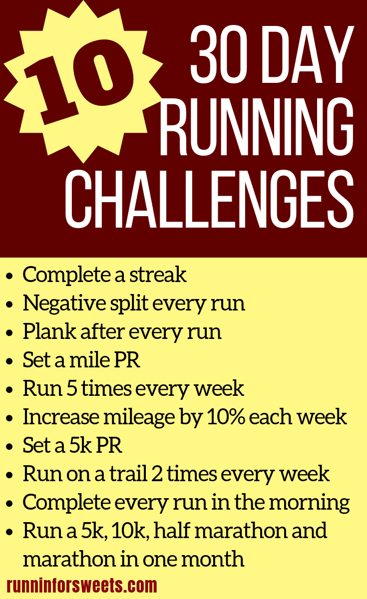 Completing a running challenge is a great way to stay motivated! Here is your ultimate resources for 30 day running challenge ideas. Packed full of amazing challenges for runners, you'll have plenty of ideas to choose from for your next monthly running challenge. #runningchallenge #30dayrunningchallenge