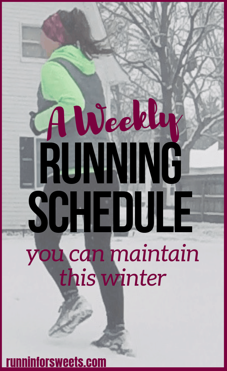 Title: How to Keep Running Through the Winter, 11/15 *low mileage running/the weekly running schedule you can maintain this winter/winter running plan Keywords: running plan for winter, winter maintenance running plan, running base training schedule, running base building training plan, winter running guide, training through the winter, winter running plan Adjectives: Meta Description: Creating a running plan for winter is a challenging task, let alone actually following that winter running plan. These game changing tips will make training through the winter a breeze. Pinterest Words: winter running; tips, plan, motivation, workouts, training, inspiration, for beginners; treadmill workouts, runners, cold weather, snow, work outs, exercise, training, website, half marathons Alt Image Text: Winter running is without a doubt the most challenging season for runners. The cold weather, snow and darkness make maintaining running training feel impossible. Here are some game changing winter running tips to keep you motivated and train through the winter. #winterrunning #runningtips