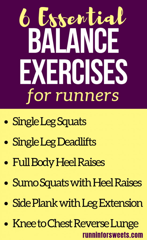 These 6 balance exercises are essential for all athletes, especially runners hoping to remain injury free. Incorporate a simple stability training workout each week to improve your balance, strength, stability and stay strong on the run. #balanceexercises #balancetraining #stabilityexercises