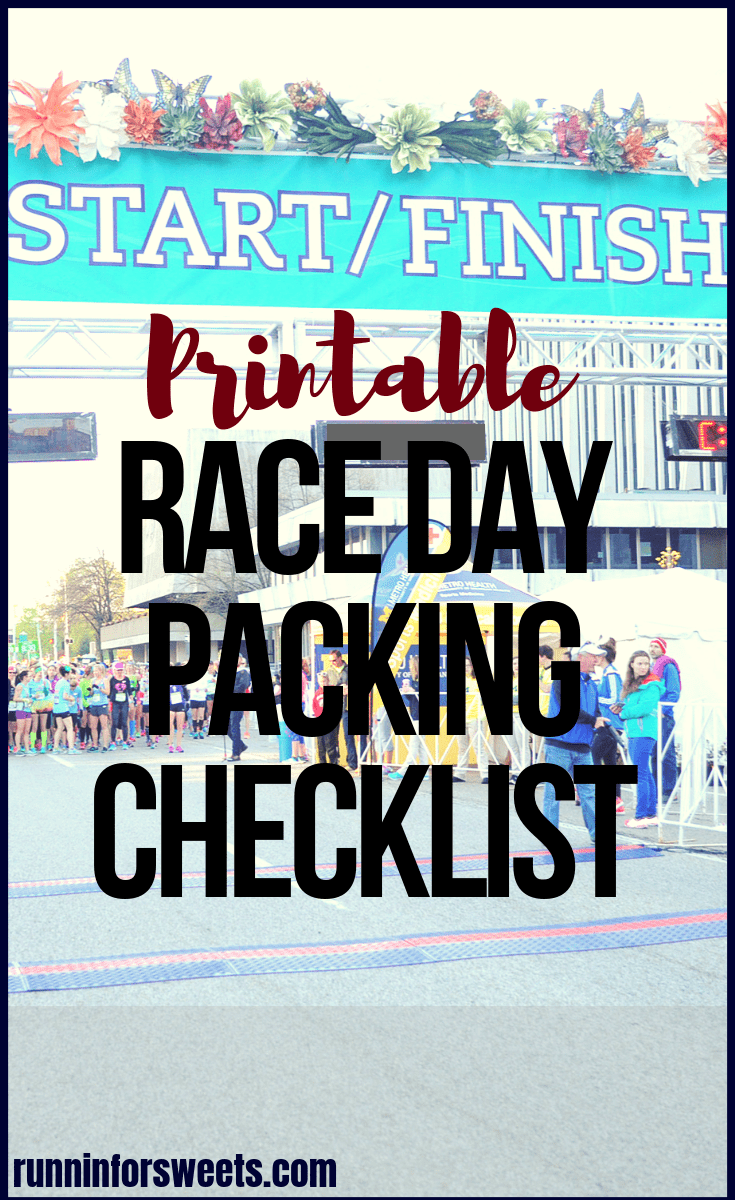 After months of training, race week is often filled with stress and nerves. This handy Race Day Packing Checklist will help ensure you have everything you need for your best race ever. Print this race day packing list for the ultimate race day preparation. #raceday #racedaypacking #racedaypreparation