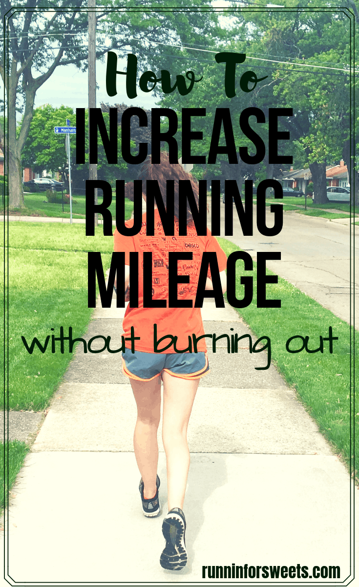 It's easy to run farther if you increase running mileage the safe way. Check out these simple tips to increase your mileage and ease into long distance training while avoiding burnout and injuries! #runningmileage #runningdistance #runfarther #distancerunning