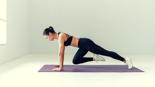 Try this 20 minute core workout at home! These bodyweight core exercises require no equipment. Complete them all in a row for a challenging ab workout!