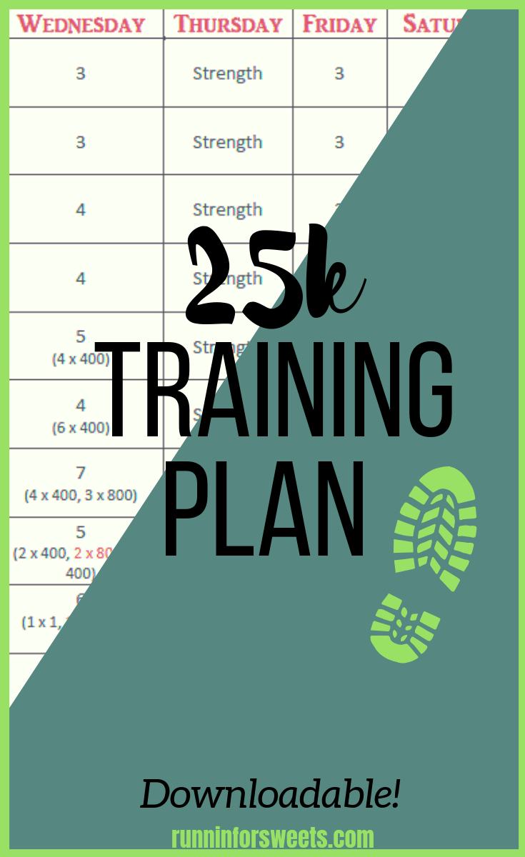 Download this 25k training plan for your next race!