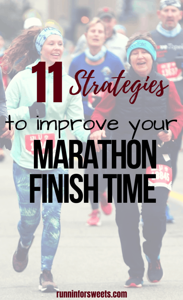 These 11 marathon training tips will help you run a faster marathon with ease and nail your next PR. Cross the finish line of your next full marathon with confidence as you conquer your running speed and pace goals! #marathontraining #fullmarathon #marathontips #fastermarathon