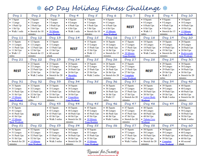 60 Day Holiday Fitness Challenge