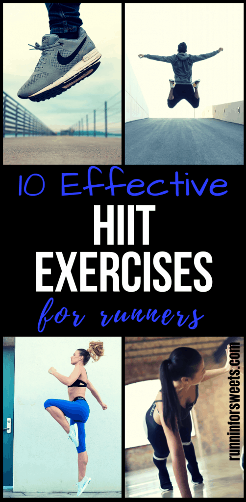 This at home HIIT workout is perfect for muscle building! These 10 HIIT exercises target the full body and use no equipment to help you gain strength and fitness right at home. Quickly enhance your running with regular interval training! #hiitworkouts #hiitexercises #athomehiitworkout