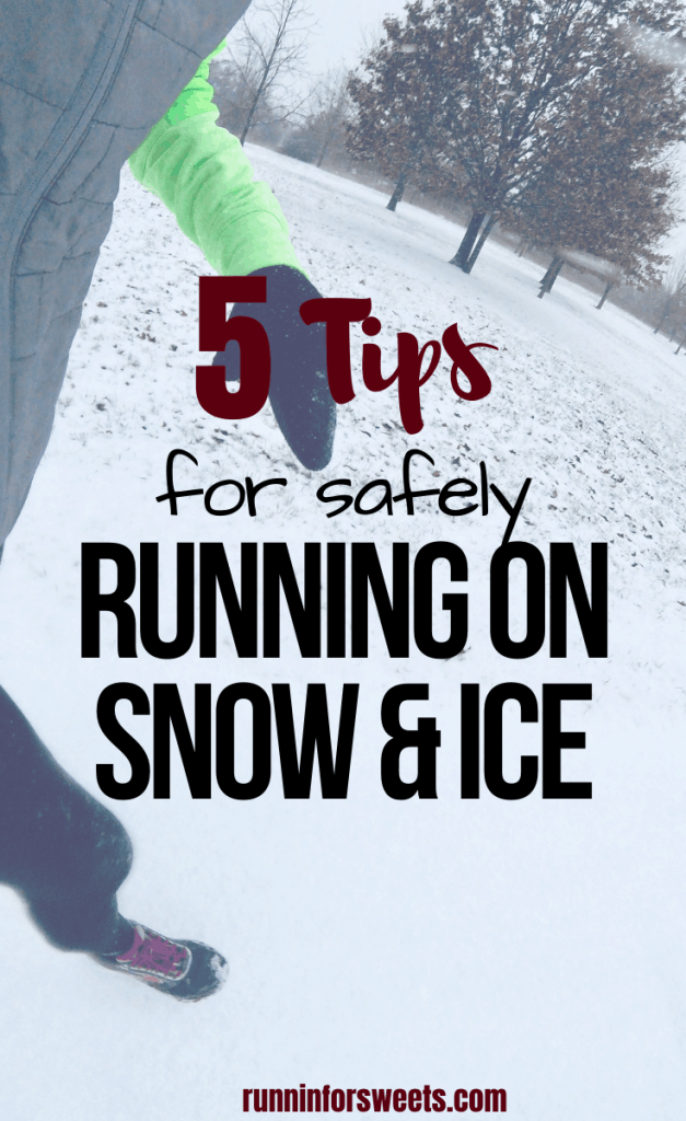 Winter running season presents many challenges for runners – especially running on snow and ice. These 5 tips will help you safely navigate training during the winter and stay motivated to head outdoors! #winterrunning #runningonsnow #runningonice