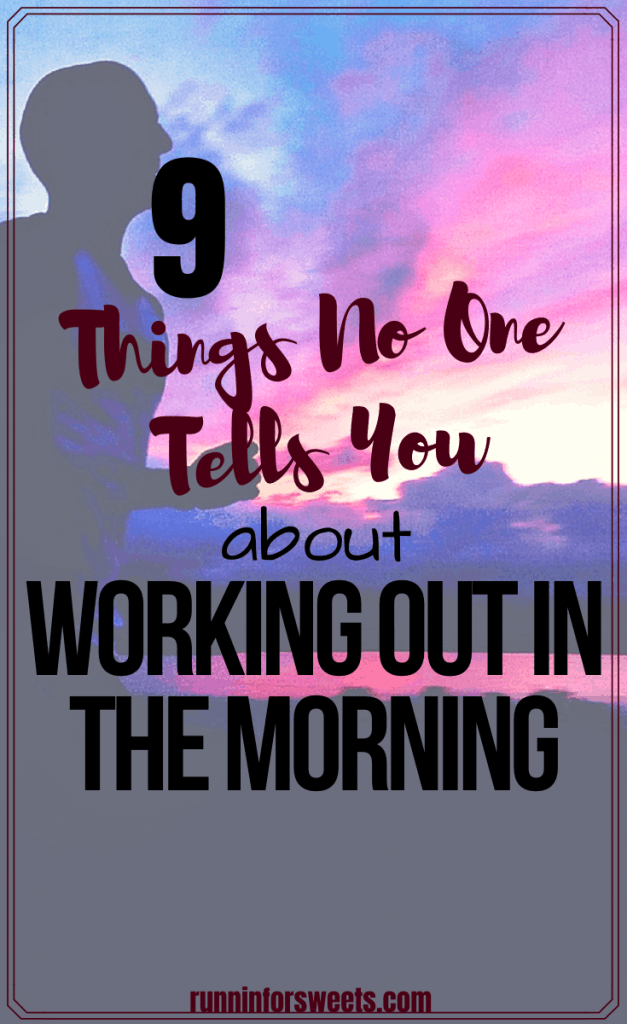 Creating a morning workout routine takes motivation and commitment, but is certainly possible. After years of waking up early, there are a few tips I wish I knew before I started. Here are 9 things no one tells you about working out in the morning. #earlymorning #morningworkout #morningworkoutroutine