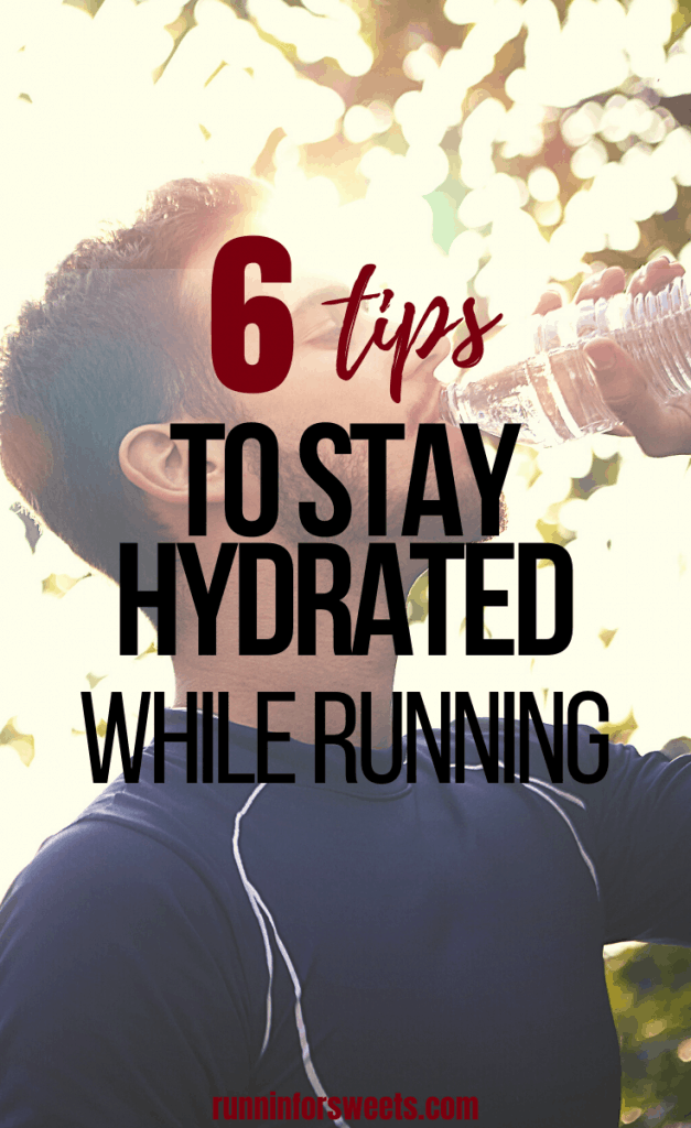 These 6 tips will help you stay hydrated while running. Summer hydration is essential for all athletes and runners in the heat. Learn how much to drink, when to drink, and all about running hydration packs, vests, belts and water bottles. #runninghydration #stayhydrated #hydration