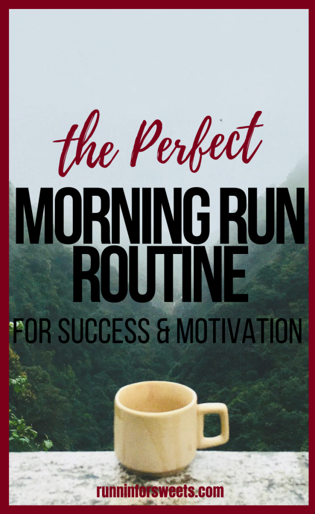 Try this morning run routine before your next early morning run! Stay motivated for running in the morning with a perfect routine, plus tips for what to eat and how to recover. #morningrun #morningrunner #earlymorning