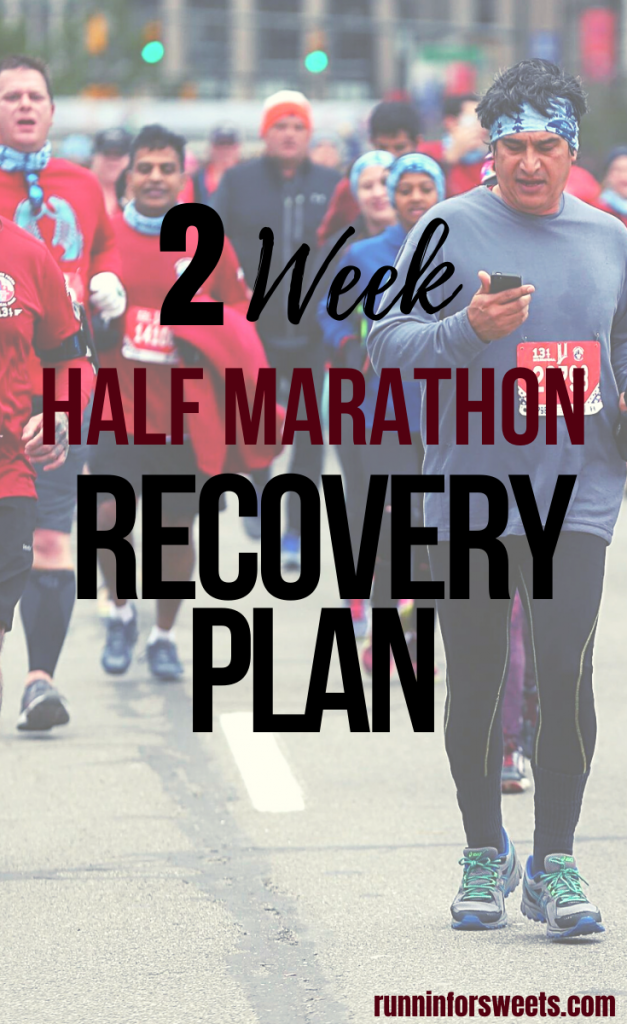 This 2 week half marathon recovery plan will guide you through the days and weeks post-race. From the finisher's chute to your first run after race day, learn how to optimally recover after a half marathon. #halfmarathonrecovery #halfmarathon #halfmarathontips