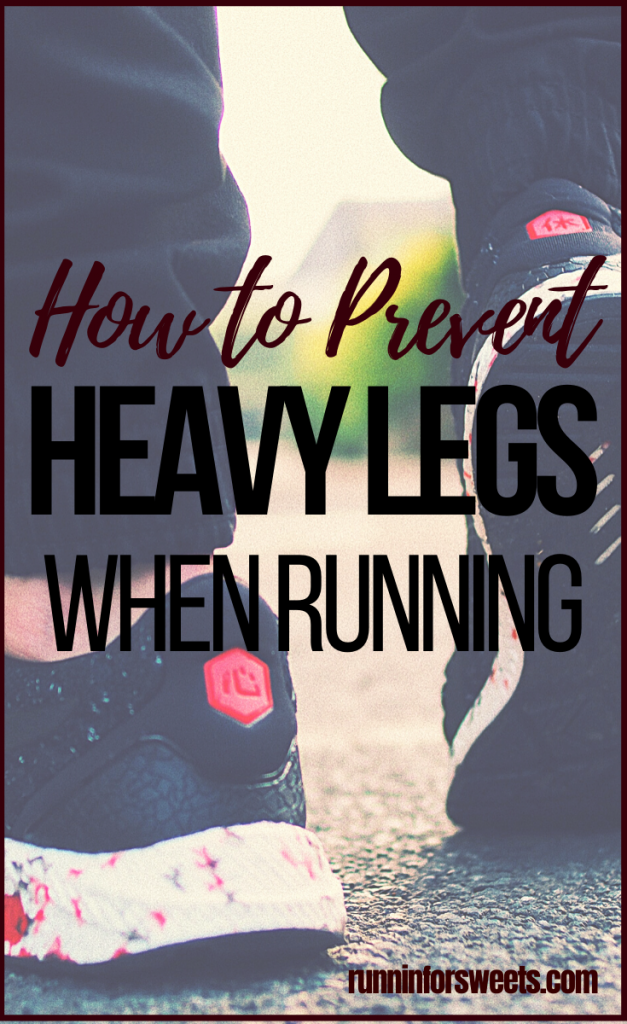 Try these 7 remedies to help relieve heavy legs while running. Avoid heavy leg syndrome altogether with these simple tips! #heavylegs #heavylegsyndrome