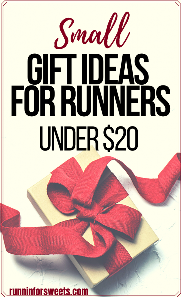 Check out 30+ stocking stuffers for runners! These ideas make excellent small gifts for runners. With gifts under $10 and under $20, you'll find the perfect running gift without breaking the bank. #giftsforrunners #stockingstuffers #runningstockingstuffers