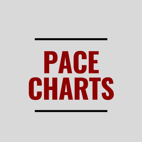 5k, 10k, Half and Full Marathon Pace Charts