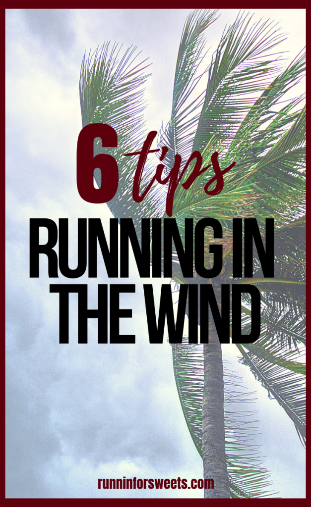 These 6 tips for running in the wind will make training in windy weather manageable and enjoyable. Learn how running in wind effects your pace, training, calories burned and more. #runninginthewind #runningagainstwind