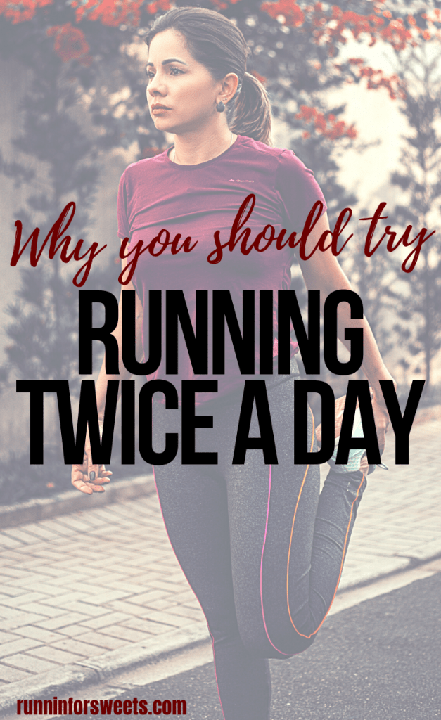 Running twice a day is a great way to enhance post-run recovery, improve endurance, and increase running speed. Here is why you should add running two a days in your training plan. #runningdoubles #runningtwoadays