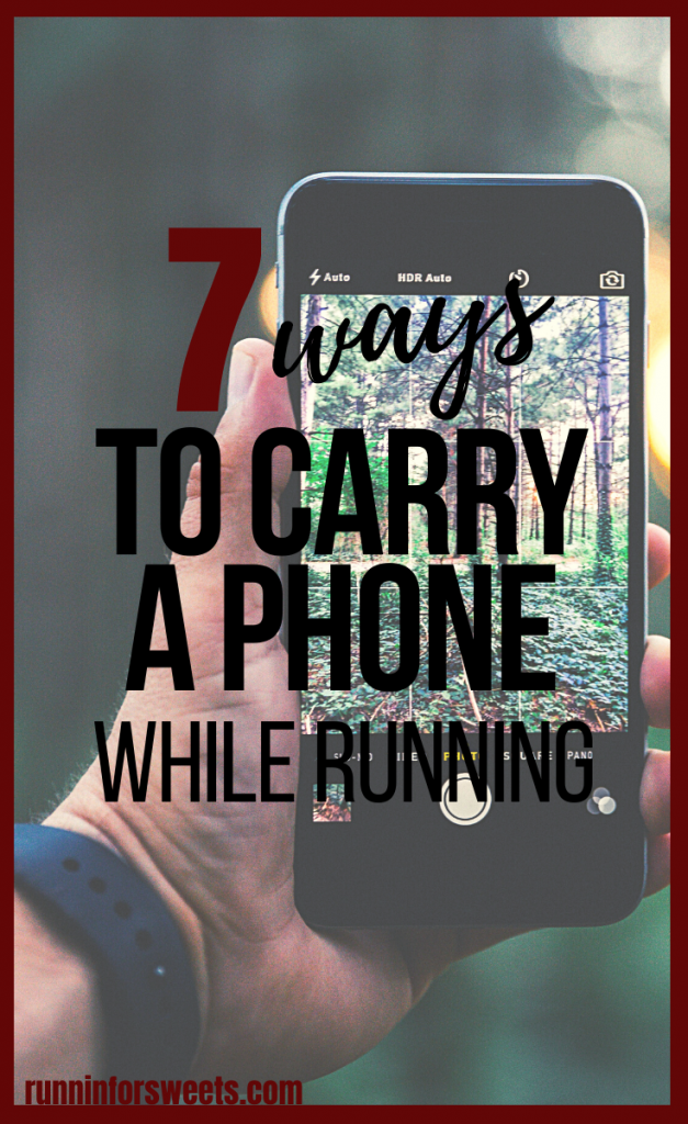 Carrying a phone while running doesn't have to be cumbersome of inconvenient. Here are 7 of the best ways to carry a phone while running! With little to no gear required, you'll be able to carry your cell phone on the run with ease. #carryaphonewhilerunning #runninggear
