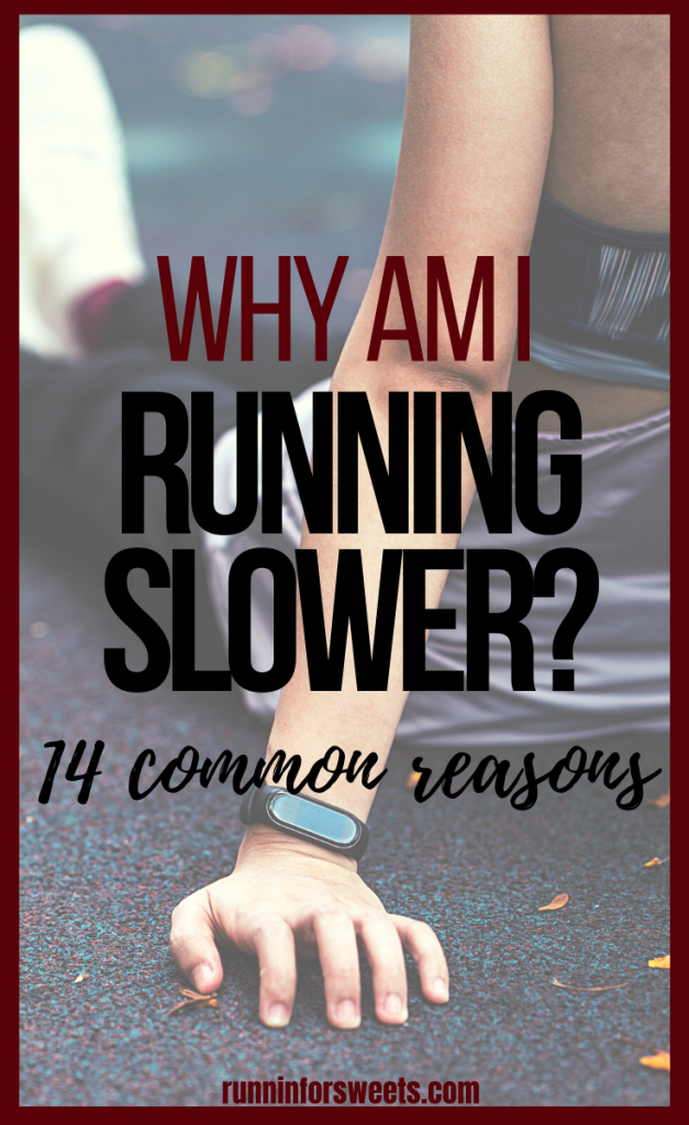 It is frustrating to do all of your training, and still notice that you are running slower. Here are 14 reasons why you're running slower, and how to quickly fix them. Get faster at running in no time! #slowrunning #runningslow #runningspeed